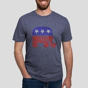 2-RepublicanLogoTexturedGreyBackgroundFadedTs T-Sh