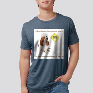 Basset Hound Construction T-Shirt