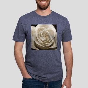 Sepia Rose Mens Tri-blend T-Shirt