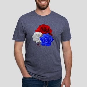 Patriotic Flowers Mens Tri-blend T-Shirt