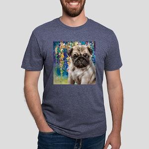 Pug Painting Mens Tri-blend T-Shirt