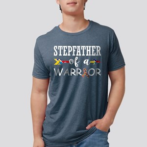 Stepfather Of A Warrior Autism Awareness T-Shirt
