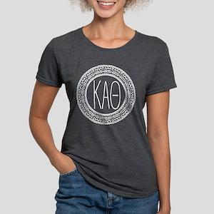 Kappa Alpha Theta Medalli Womens Tri-blend T-Shirt