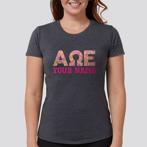 Alpha Omega Epsilon Pink Womens Tri-blend T-Shirt