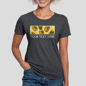 Alpha Omicron Pi Pineappl Womens Tri-blend T-Shirt