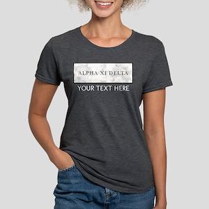 Alpha Xi Delta Marble Womens Tri-blend T-Shirt