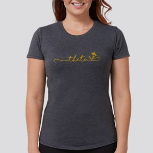 Kappa Alpha Theta Script Womens Tri-blend T-Shirt