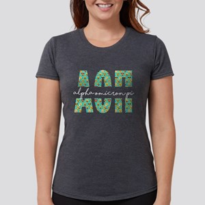 Alpha Omicron Pi Letters Womens Tri-blend T-Shirt