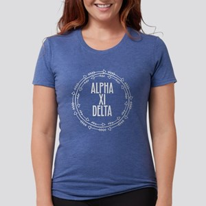 Alpha Xi Delta Sorority Arrow Womens Tri-blend T-S