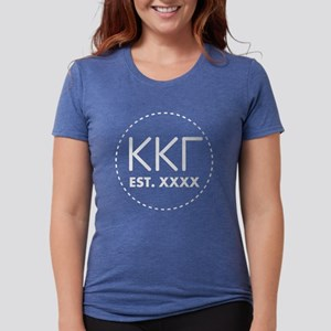 Kappa Kappa Gamma Circle Womens Tri-blend T-Shirt