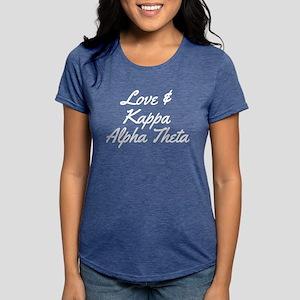 Kappa Alpha Theta Love Womens Tri-blend T-Shirt