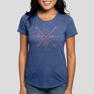 Alpha Xi Delta Big Arrow Womens Tri-blend T-Shirt