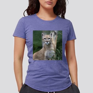 Mountain Lion Womens Tri-blend T-Shirt