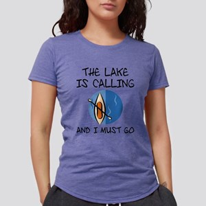 The Lake Is Calling Womens Tri-blend T-Shirt