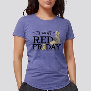 Army RED Friday Boot Womens Tri-blend T-Shirt