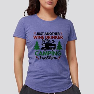 0292f5d6 Wine Drinker Camping White T-Shirt