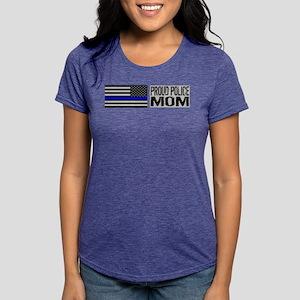 146ec133a Police: Proud Mom (Black Flag Women's Dark T-Shirt