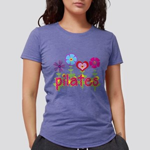 pilates garden hot pink copy Womens Tri-blend T-Sh