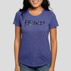 a61886c7c friendstv logo Womens Tri-blend T-Shirt