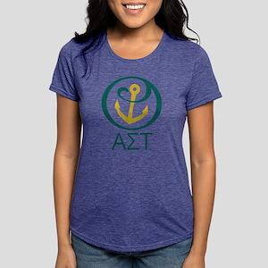 Alpha Sigma Tau Letters Womens Tri-blend T-Shirt