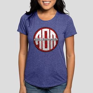 Alpha Omicron Pi Monogram Womens Tri-blend T-Shirt
