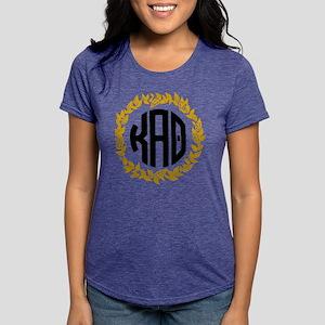 Kappa Alpha Theta Wreath Womens Tri-blend T-Shirt