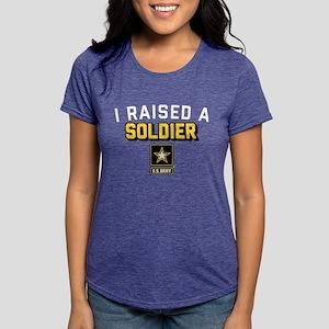 U.S. Army I Raised A Soldier Womens Tri-blend T-Sh