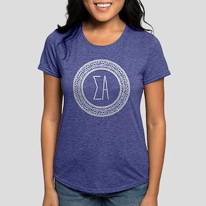 Sigma Alpha Medallion Womens Tri-blend T-Shirts