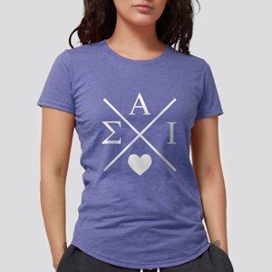 Sigma Alpha Iota Letters Womens Tri-blend T-Shirts
