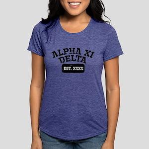 Alpha Xi Delta Athletic P Womens Tri-blend T-Shirt