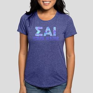 Sigma Alpha Iota Blue Pur Womens Tri-blend T-Shirt