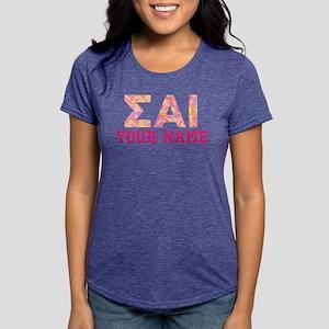 Sigma Alpha Iota Pink Yel Womens Tri-blend T-Shirt