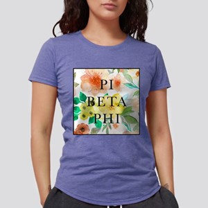 Pi Beta Phi Floral Womens Tri-blend T-Shirt