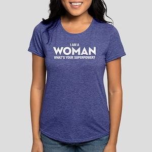 I Am A Woman Women's Dark T-Shirt