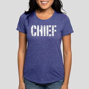 Chief white distressed prin T-Shirt