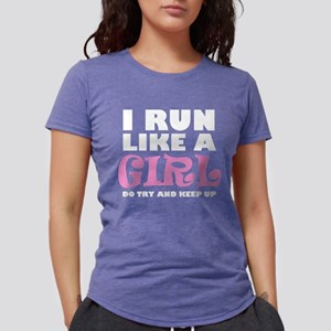 'I Run Like a Girl' Women's Dark T-Shirt