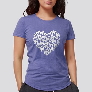 Bouvier des Flandres Hear Womens Tri-blend T-Shirt