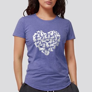 Pembroke Welsh Corgi Hear Womens Tri-blend T-Shirt