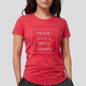 Delta Gamma Peace Womens Tri-blend T-Shirt