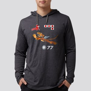 flying-tigers- blk Mens Hooded Shirt