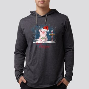 Merry Christmas Pig North Pole Long Sleeve T-Shirt
