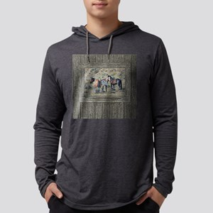 Old window horses 3 Mens Hooded Shirt