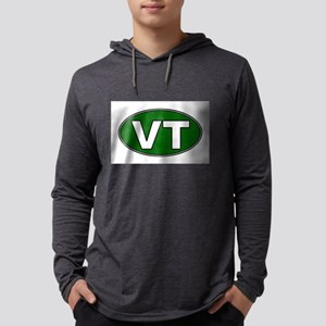 green-vt-oval Mens Hooded Shirt