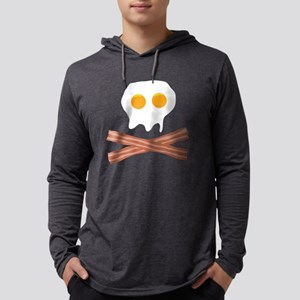 a1ee0beed235f5 39 Eggs Bacon Skull Mens Hooded Shirt