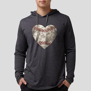 Baseball Vintage Distressed Mens Hooded Shirt