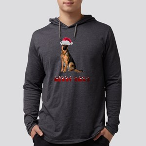 German Shepherd Christmas Mens Hooded Shirt