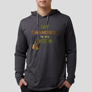 Dog Tag Hero Grandson Mens Hooded Shirt