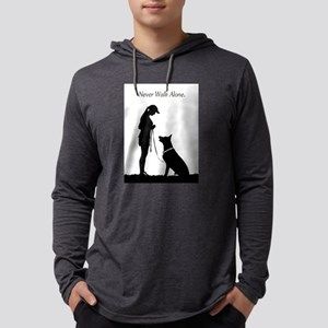 German Shepherd Silhouette Long Sleeve T-Shirt