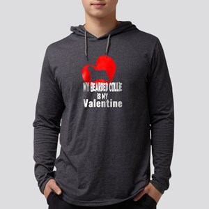 My Bearded Collie is My Valent Long Sleeve T-Shirt