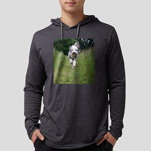 bearded collie running Long Sleeve T-Shirt